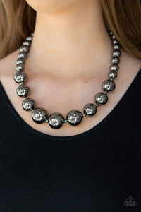 Paparazzi Jewelry Necklace Living Up To Reputation - Black