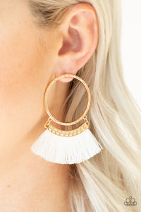 Paparazzi Jewelry Earrings This Is Sparta! - Gold