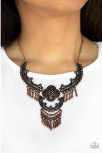 Paparazzi Jewelry Necklace Rogue Vogue - Copper