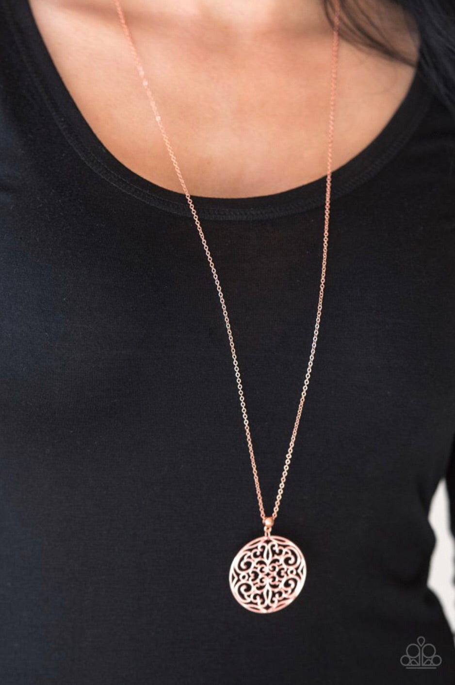 Paparazzi Jewelry Necklace All About Me-dallion - Copper