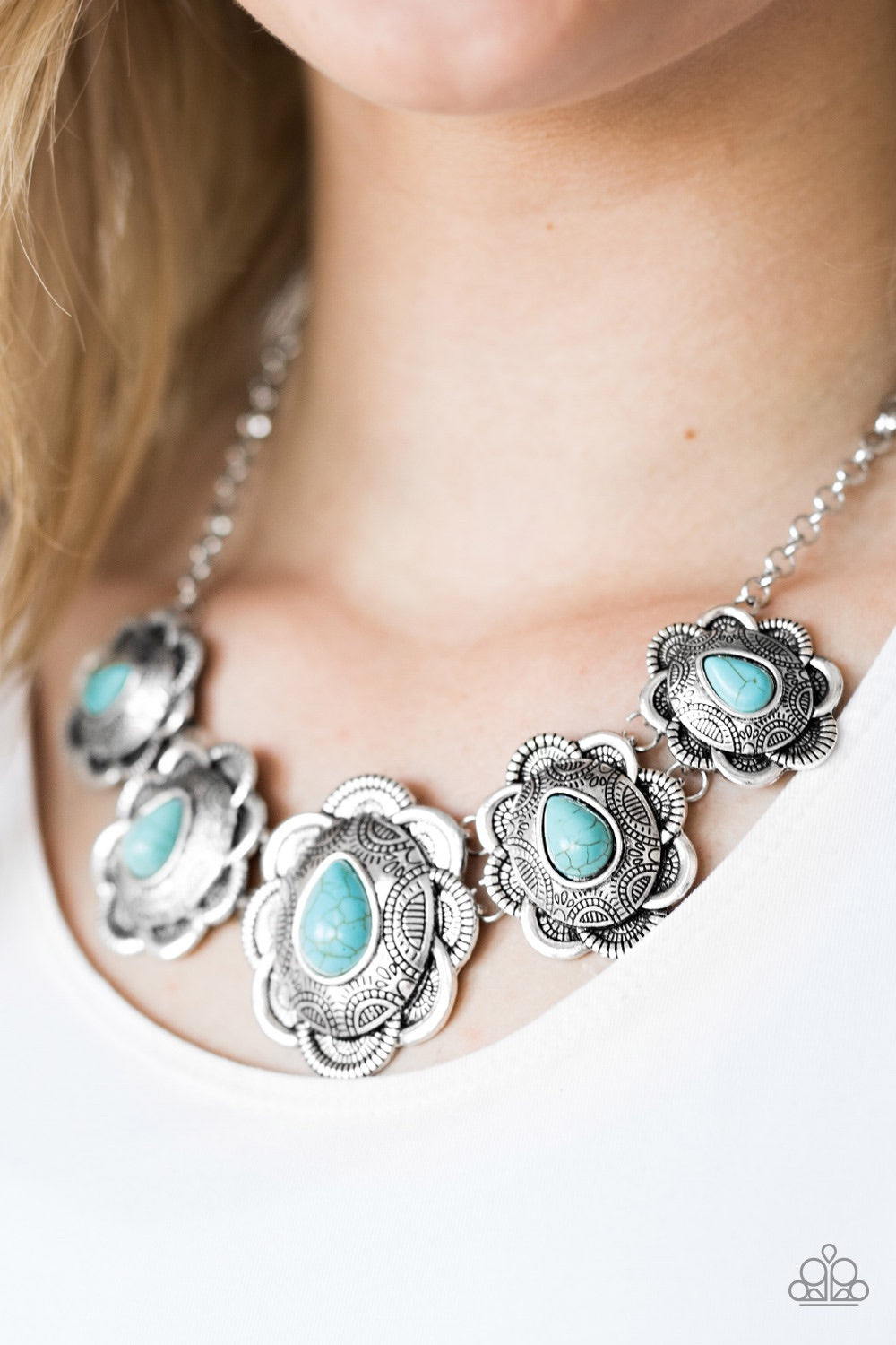 Paparazzi Jewelry Necklace Too Many Chiefs - Blue