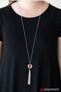 Paparazzi Jewelry Necklace Extraordinary Explorer - Red