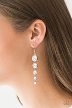 Load image into Gallery viewer, Paparazzi Jewelry Earrings Raining Rhinestones - White