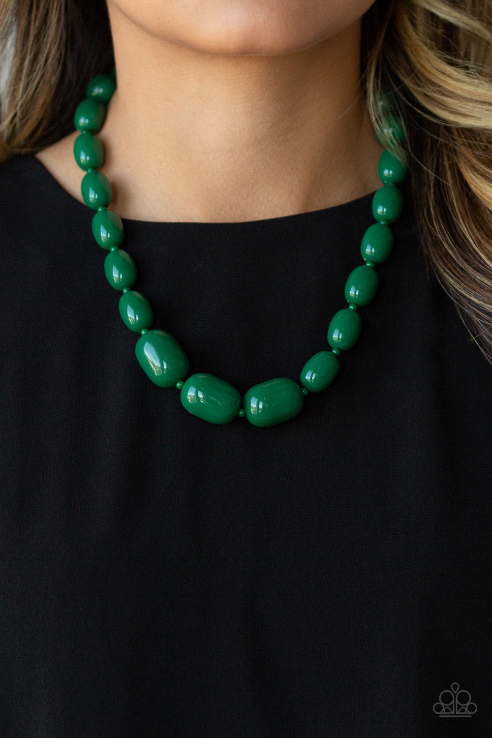 Paparazzi Jewelry Necklace Poppin Popularity - Green
