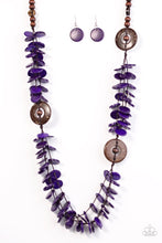 Load image into Gallery viewer, Paparazzi Jewelry Wooden Greetings From Tahiti - Purple