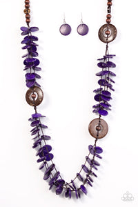 Paparazzi Jewelry Wooden Greetings From Tahiti - Purple
