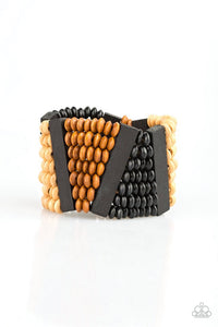 Paparazzi Jewelry Wooden HAUTE In Hispaniola - Black