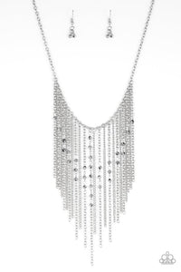 Paparazzi Jewelry Necklace First Class Fringe - Silver