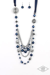 Paparazzi Jewelry Necklace All The Trimmings - Blue