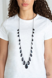 Paparazzi Jewelry Necklace GLOW And Steady Wins The Race - Black