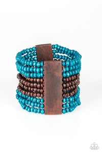 Paparazzi Jewelry Wooden JAMAICAN Me Jam - Blue