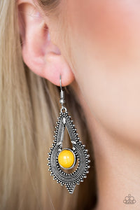 Paparazzi Jewelry Earrings Zoomin Zumba - Yellow