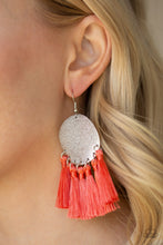Load image into Gallery viewer, Paparazzi Jewelry Earrings Tassel Tribute - Orange