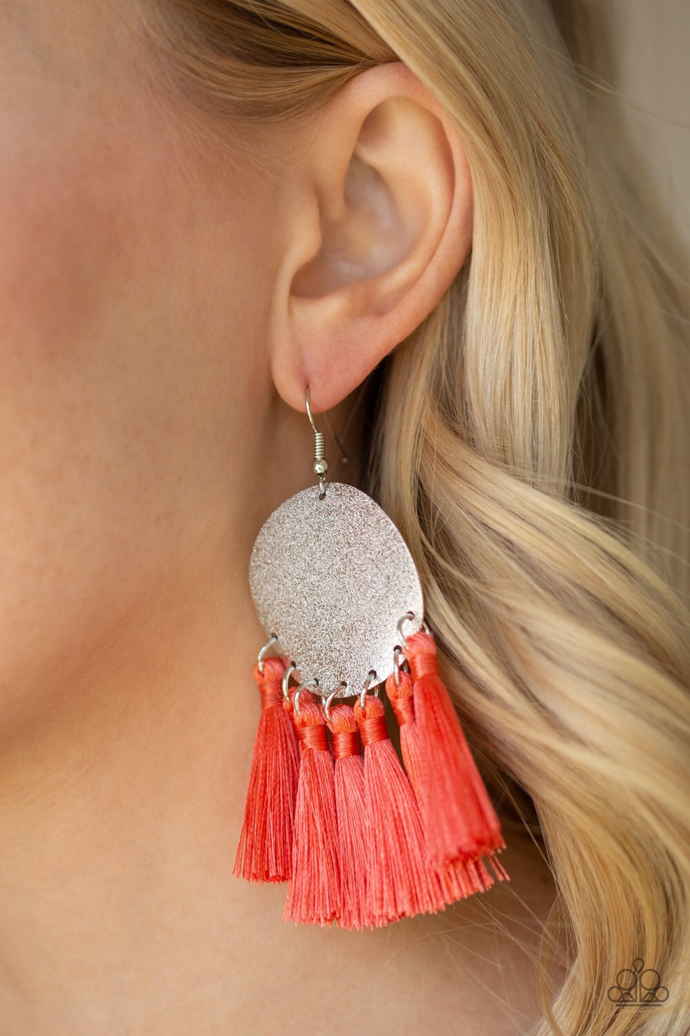 Paparazzi Jewelry Earrings Tassel Tribute - Orange