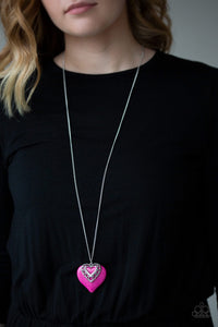 Paparazzi Jewelry Necklace Southern Heart - Pink