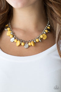 Paparazzi Jewelry Necklace Flirtatiously Florida - Yellow