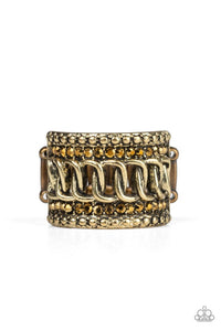 Paparazzi Jewelry Ring Out For The Count - Brass