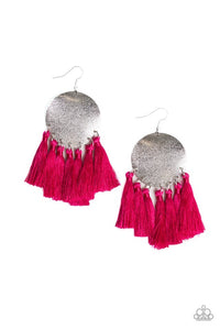Paparazzi Jewelry Earrings Tassel Tribute - Pink