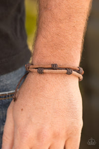 Paparazzi Jewelry Men Off The Beaten Path - Brown