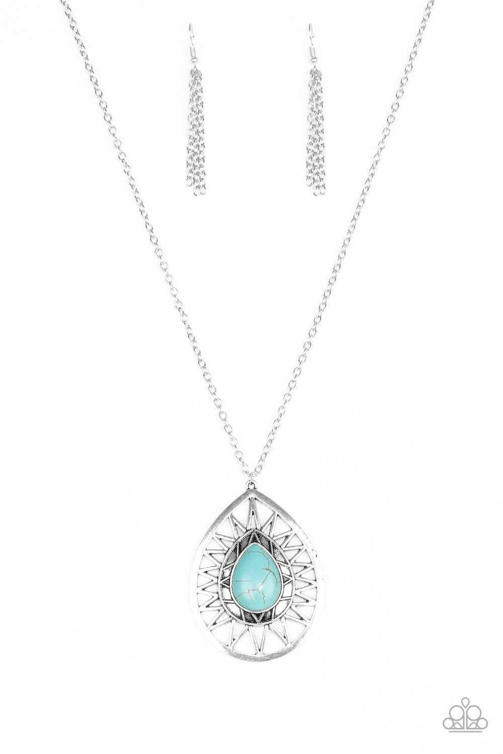 Paparazzi Jewelry Necklace  Summer Sunbeam - Blue