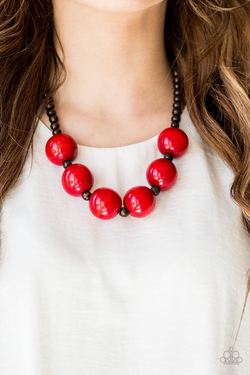 Paparazzi Jewelry Wooden Oh My Miami - Red