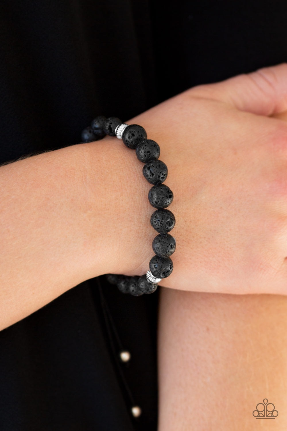 Paparazzi Jewelry Bracelet Relaxation - Black