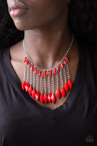 Paparazzi Jewelry Necklace Venturous Vibes - Red