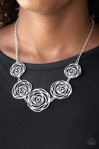 Paparazzi Jewelry Sets Rosy Rosette - Silver/Beat Around The ROSEBUSH - Silver