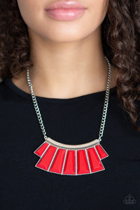 Paparazzi Jewelry Necklace Glamour Goddess - Red