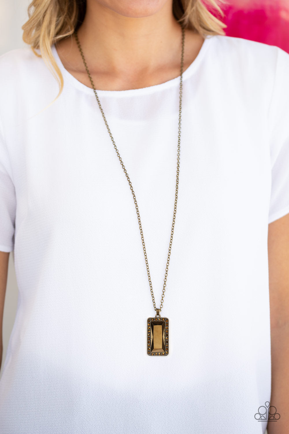 Paparazzi Jewelry Necklace Bada BLING Bada Boom - Brass