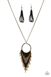 Paparazzi Jewelry Necklace Badlands Beauty - Black