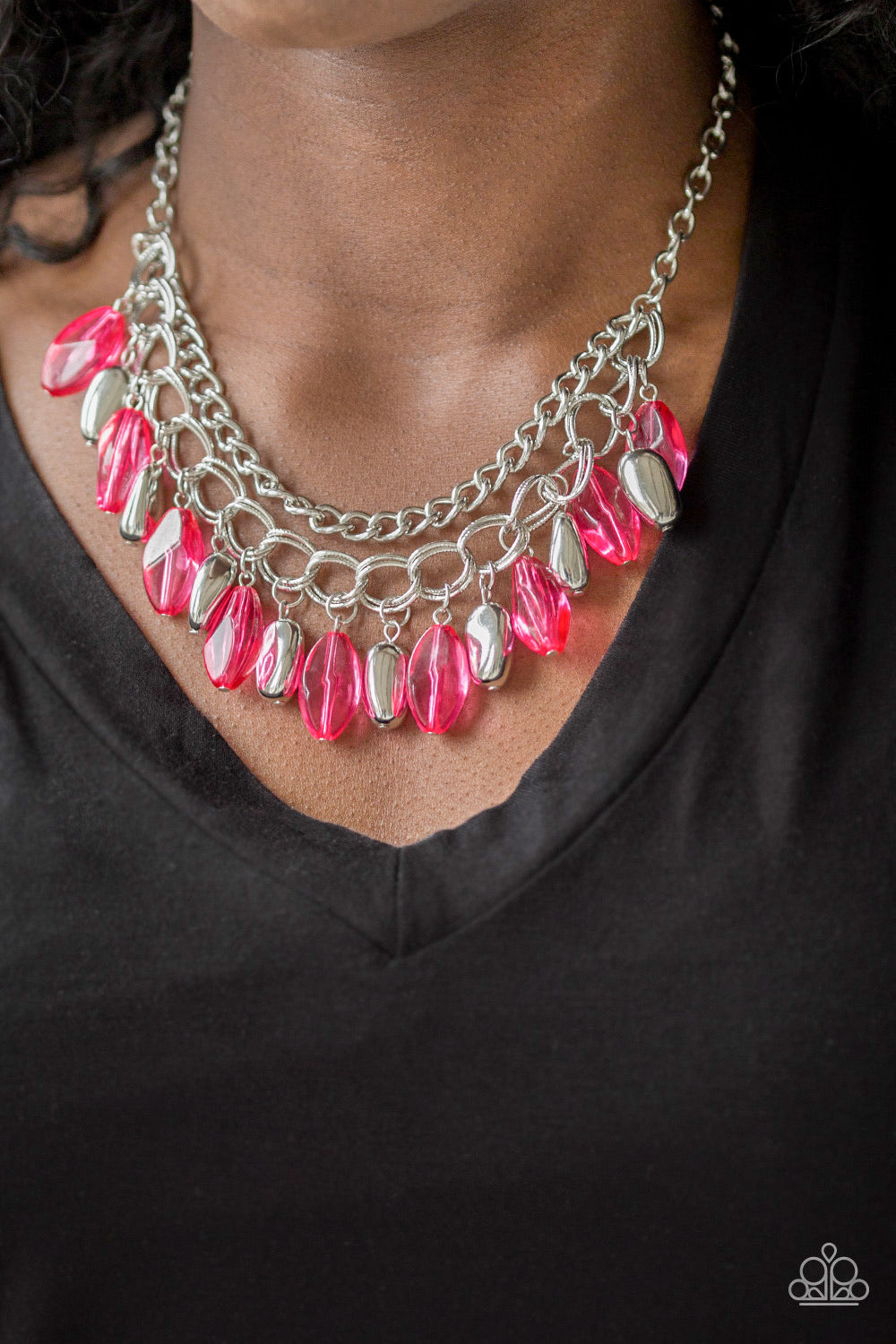 Paparazzi Jewelry Necklace Spring Daydream - Pink