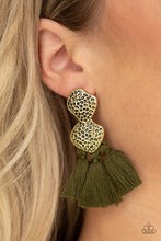 Load image into Gallery viewer, Paparazzi Jewelry Earrings Tenacious Tassel - Green