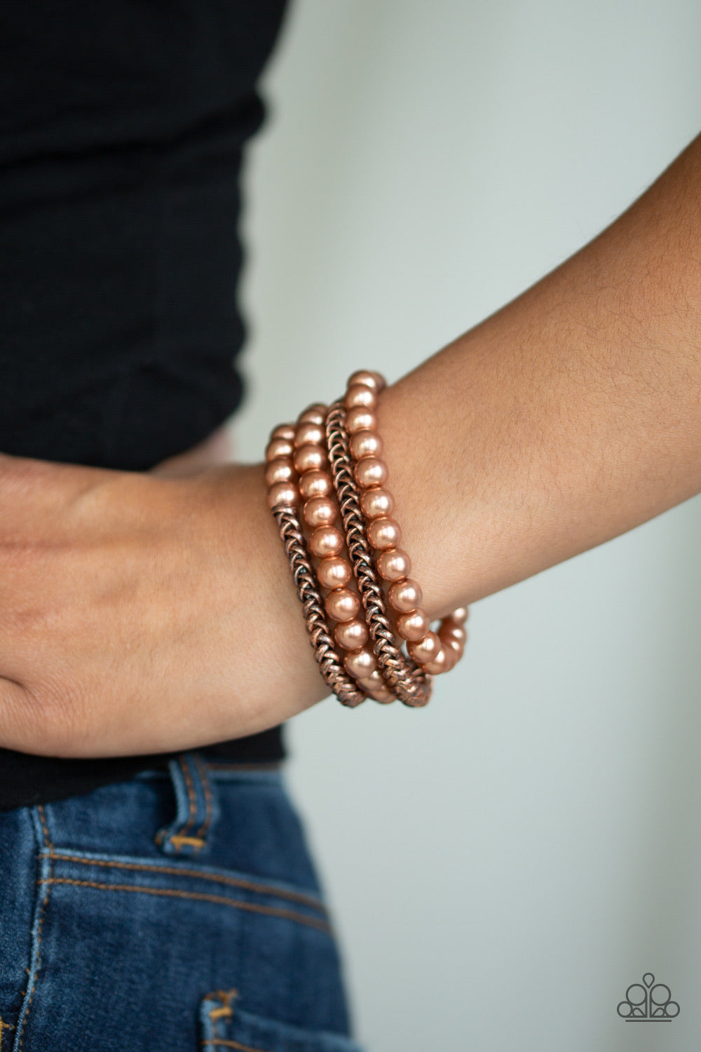 Paparazzi Jewelry Bracelet Industrial Incognito - Copper