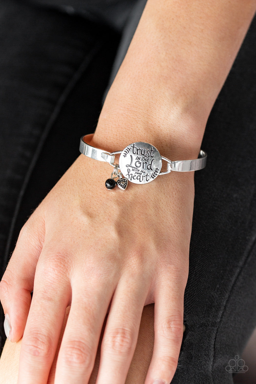 Paparazzi Jewelry Inspirationals Total Trust - Black