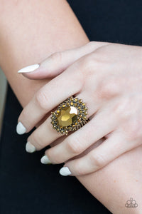 Paparazzi Jewelry Ring Him and HEIR - Brass