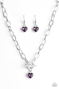 Paparazzi Jewelry Necklace Let Your Heart Shine - Purple
