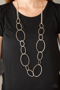 Paparazzi Jewelry Necklace City Circuit - Rose Gold