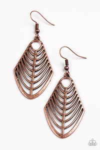Paparazzi Jewelry Earrings Right On TRACKER - Copper