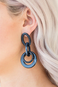Paparazzi Jewelry Earrings Havana HAUTE Spot - Blue