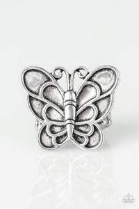 Paparazzi Jewelry Ring Sky High Butterfly - Silver