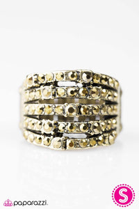 Paparazzi Jewelry Ring Sparkle Like You Mean It! - Brass