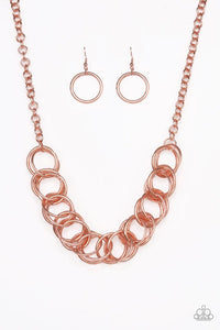 Paparazzi Jewelry Necklace Heavy Metal Hero - Copper