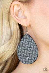 Paparazzi Jewelry Earrings Teardrop Trend - Silver