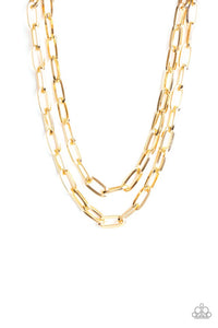 Paparazzi Jewelry Necklace Make A CHAINge - Gold