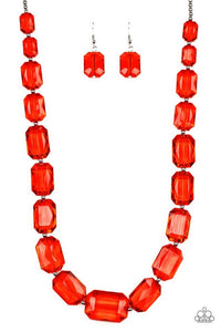 Paparazzi Jewelry Necklace ICE Versa - Red
