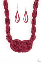 Load image into Gallery viewer, Paparazzi Jewelry Necklace A Standing Ovation - Burgundy