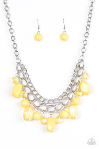 Paparazzi Jewelry Necklace Brazilian Bay - Yellow