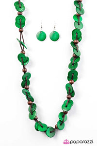 Paparazzi Jewelry Wooden Caribbean Carnival - Green