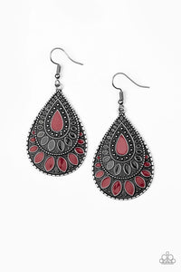 Paparazzi Jewelry Earrings Westside Wildside - Red